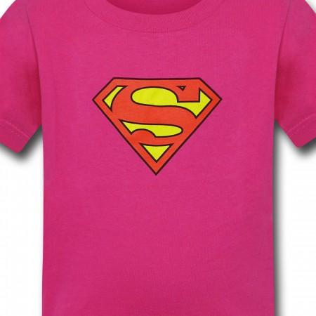 Supergirl Kids Pink Symbol T-Shirt