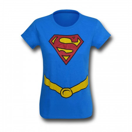 Supergirl Glitter Suit-Up Girls T-Shirt
