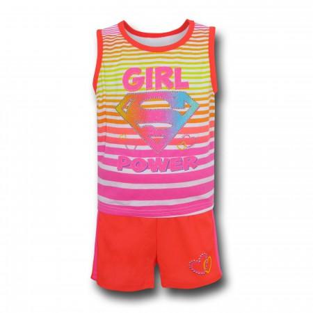 Supergirl Girls Kids Tank & Short Set