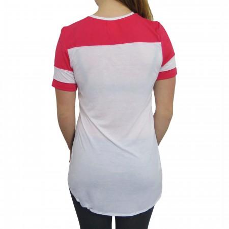 Superman Women's Side Split Football Tunic T-Shirt
