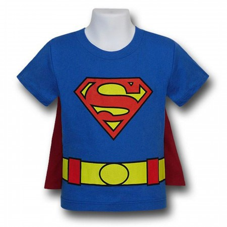 Superman Kids Costume Caped T-Shirt