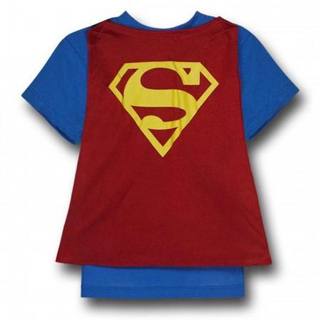 Superman Kids Costume Caped T-Shirt