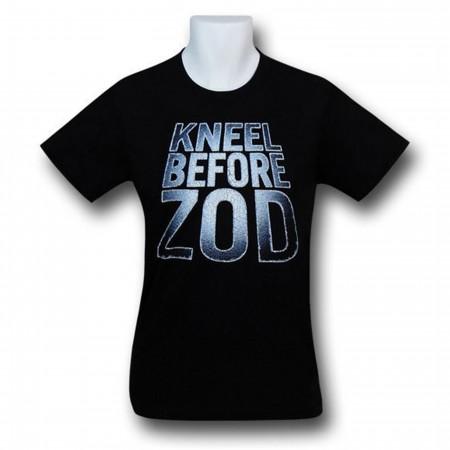 Superman Kneel Before Zod Logo Black T-Shirt