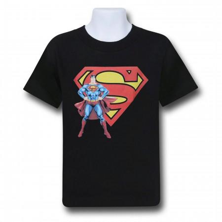 Superman Stance and Symbol Kids T-Shirt