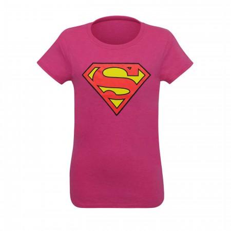 Superman Symbol Women's Pink T-Shirt