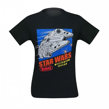 Star Wars 8-Bit Millennium Falcon Men's T-Shirt