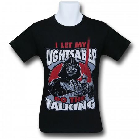 Star Wars Vader Lightsaber Talking T-Shirt