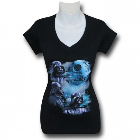 Star Wars Triple Vader Women's V-Neck T-Shirt