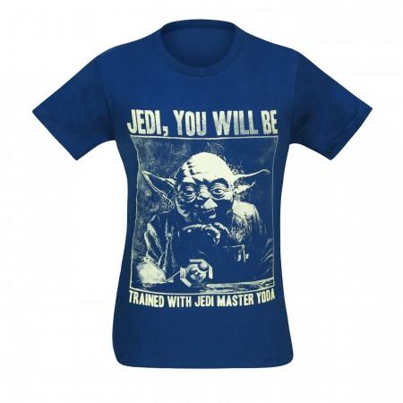 Star Wars Yoda Training Navy 30 Single T-Shirt