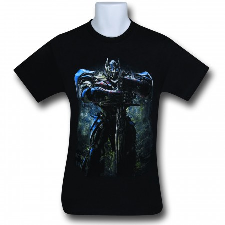 Transformers 4 Optimus Prime With Sword T-Shirt
