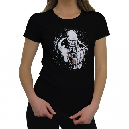 Avengers Infinity War Thanos Space Dye Women's T-Shirt