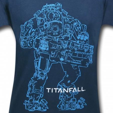 Titanfall Atlas Outline T-Shirt