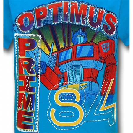 Transformers Prime 84 Kids Blue T-Shirt