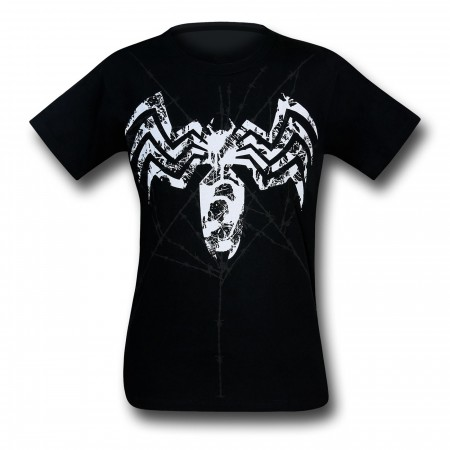 Venom Distressed Symbol & Web 30 Single T-Shirt