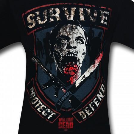 Walking Dead Survive Protect T-Shirt