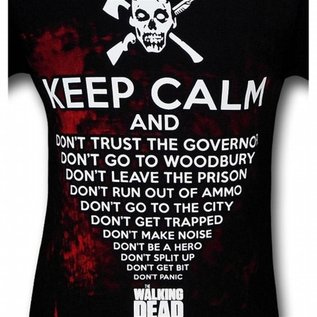Walking Dead Keep Calm And T-Shirt
