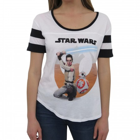 Star Wars Force Awakens Desert Rey Women's T-Shirt