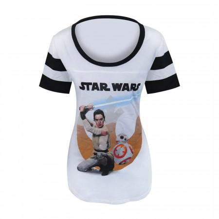 Star Wars Force Awakens Desert Rey Women's T-Shirt