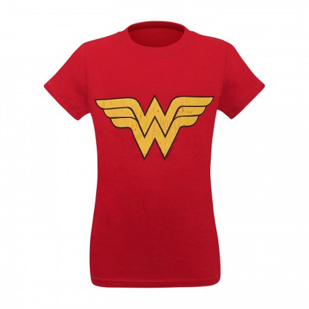 Wonder Woman Distressed Symbol Girls T-Shirt