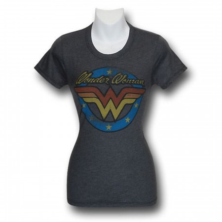 Wonder Woman Vintage Juniors Junkfood T-Shirt