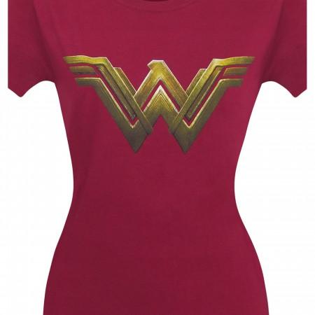 Wonder Woman Justice League Logo Women's T-Shirt