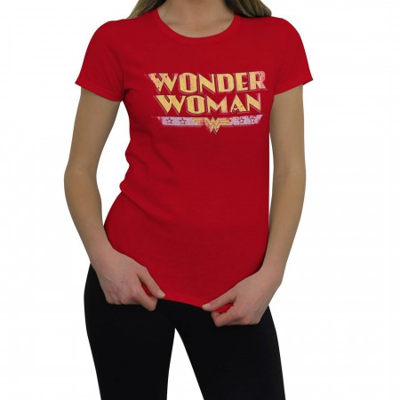 Wonder Woman Women's Distressed Logo T-Shirt