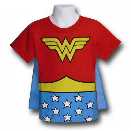 Wonder Woman Kids Costume Caped T-Shirt