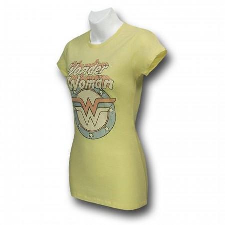 Wonder Woman Vintage Logo Yellow Women's T-Shirt