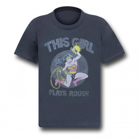 Wonder Woman Plays Rough Kids T-Shirt