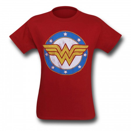 Wonder Woman Symbol & Stars Kids T-Shirt