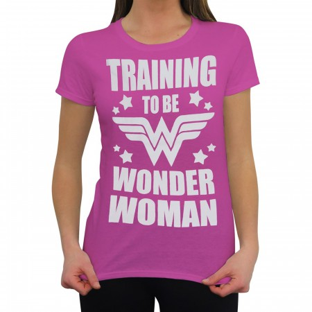 Wonder Woman Training to Be Women's T-Shirt