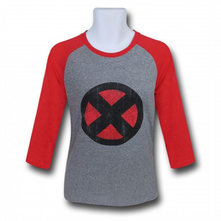 X-Men Distressed Symbol Men's Baseball T-Shirt