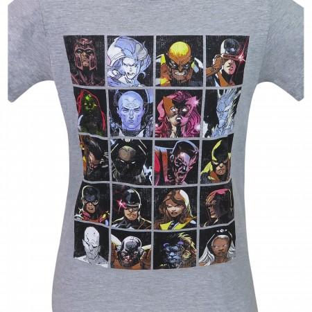 X-Men Mutant Grid Bunch Men's T-Shirt