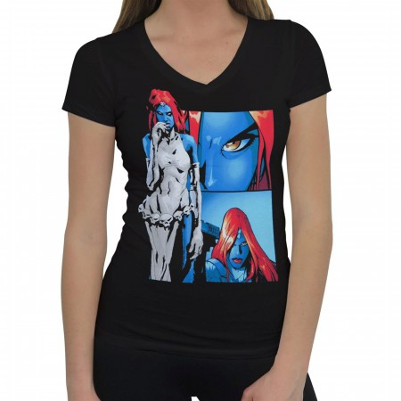 X-Men Mystique Panels Women's V-Neck T-Shirt