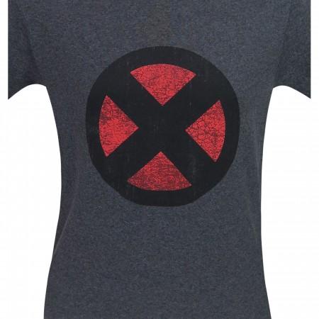 X-Men Distressed Symbol Grey T-Shirt