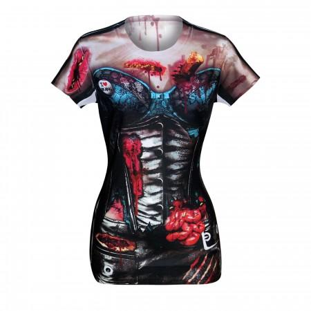 Zombie Corset Costume Women's T-Shirt