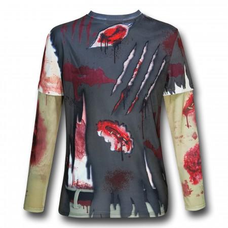 Zombie Costume Mesh Sleeve T-Shirt