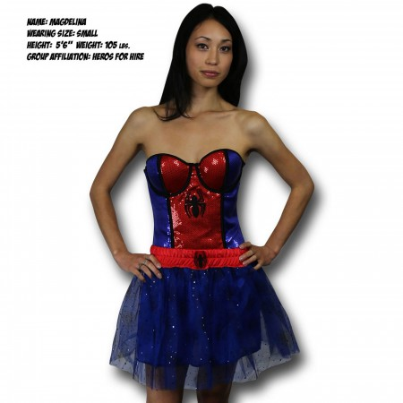 Spider-Girl Costume Sequin Corset