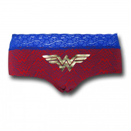 Wonder Woman Lace/Foil Women's Panty