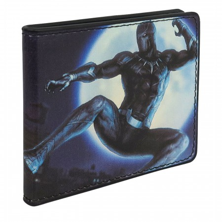 Black Panther Hunter's Moon Men's Bi-Fold Wallet