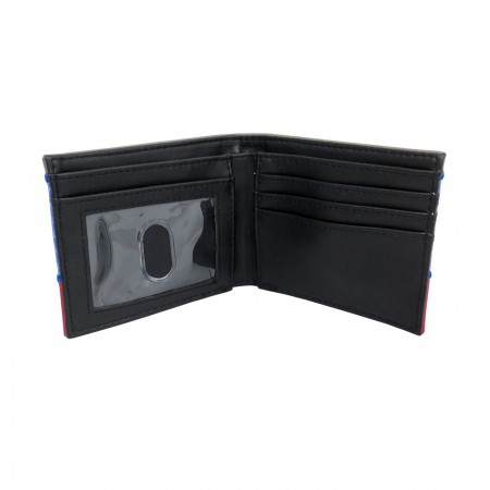 Captain America Metal Shield Carbon Fiber Bi-Fold Wallet