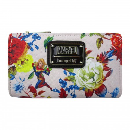 Captain Marvel Floral Bi-Fold Wallet