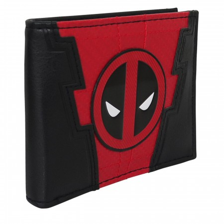 Deadpool Chrome Weld Patch Men's Bi-Fold Wallet