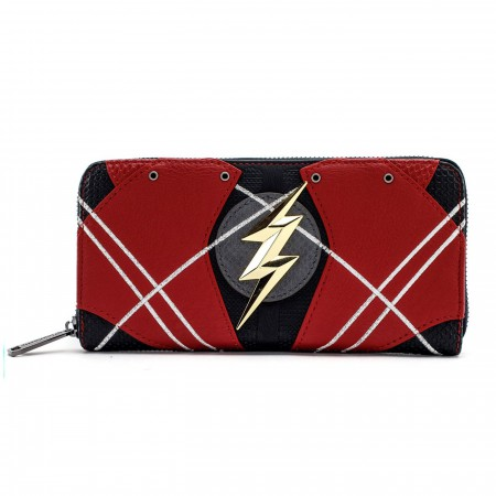 Flash Justice League Armor Zip Around Wallet