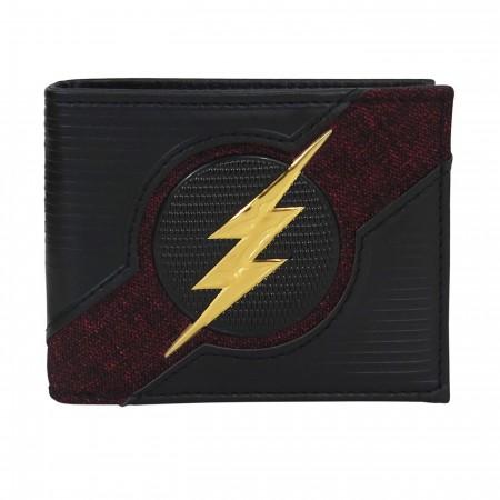 Flash Logo Chrome Weld Patch Men's Bi-Fold Wallet