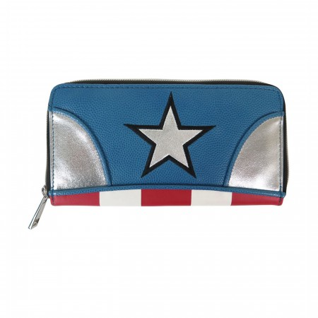 Captain America Suit Up Women's Zipper Wallet