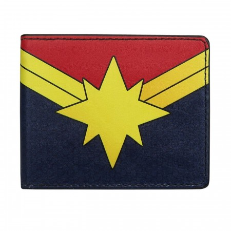 Captain Marvel Logo Bi-Fold Wallet