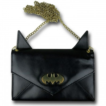 Batman Eared Envelope Wallet with Chain