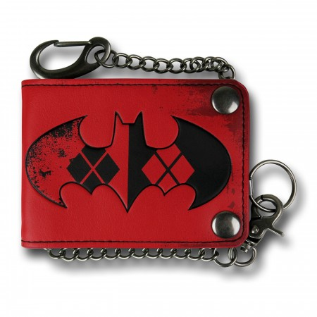 Batman Harley Quinn Snap Chain Wallet