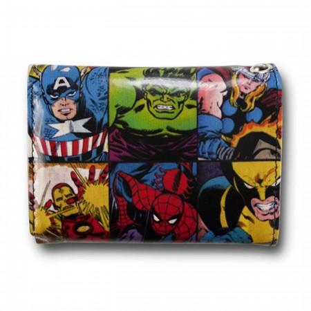 Marvel Hero Group Panel Chain Wallet